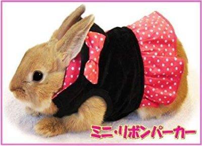レインボー うさちゃんの服 ラビット ミニ・リボンパーカー Mサイズ